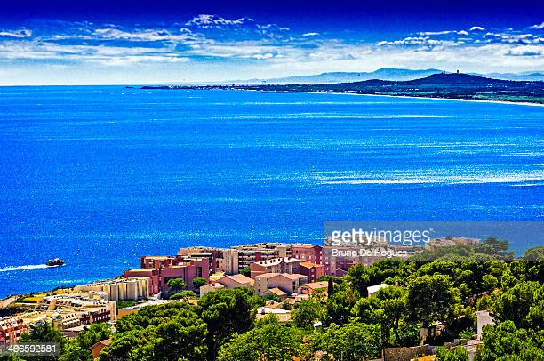 sete, france - cap d'agde stock photos and pictures