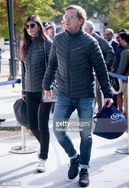Sete Gibernau arrives to the Funeral Tribute For Angel Nieto in Madrid on September 16 2017 in Madrid Spain