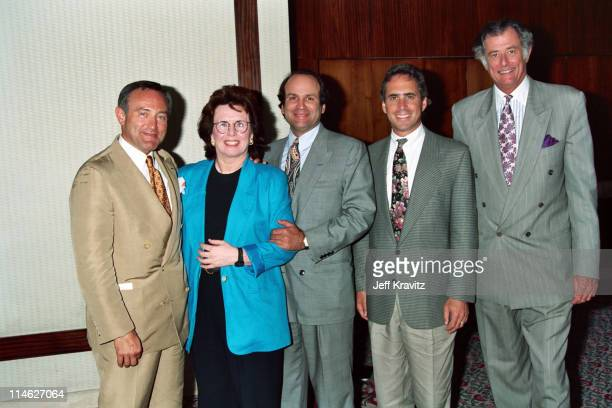 Seth Abraham Billie Jean King Michael Fuchs Ross Greenberg and Frank DeFord