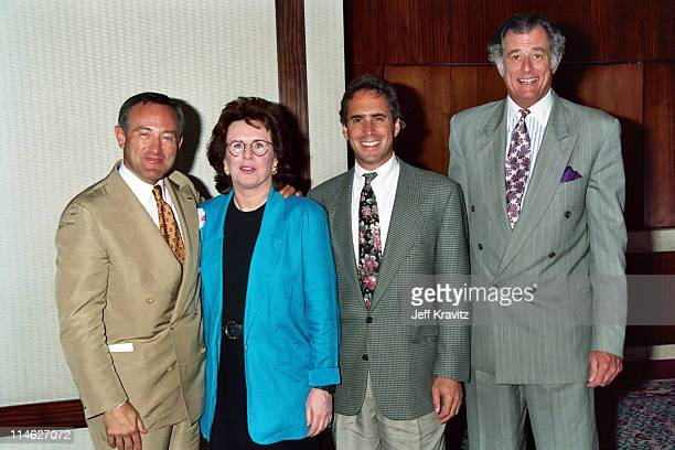 Seth Abraham Billie Jean King Ross Greenberg and Frank DeFord