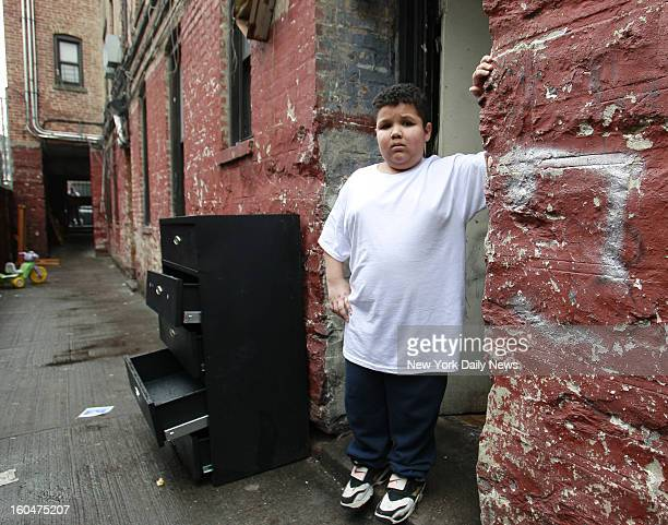 Seth Acevedo the boy who was allegedly rob and bullied by Wilson Reyes the kid who was handcuffed and interrogated by police poses for photos at...