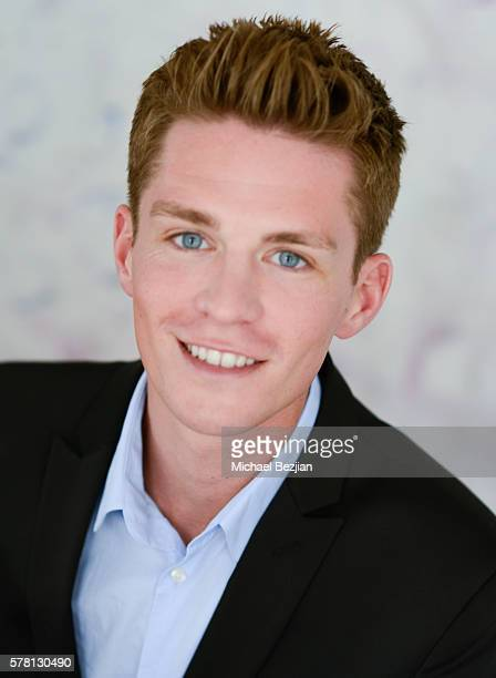 Seth Almberg poses for portrait at Artists Visit The SAP The Starving Artists Project on July 20 2016 in Los Angeles California