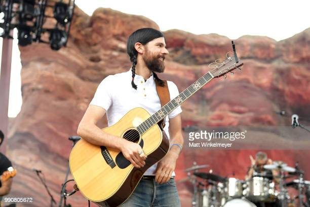 MORRISON CO JULY 1 Seth Avett of The Avett Brothers performs at Red Rocks Amphitheatre on July 1 2018 in Morrison Colorado