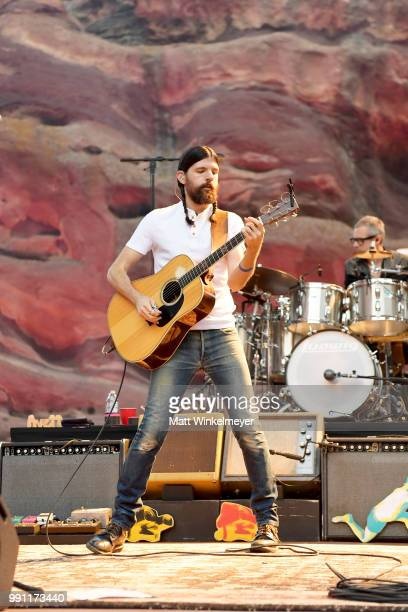 Seth Avett of The Avett Brothers performs at Red Rocks Amphitheatre on July 1 2018 in Morrison Colorado
