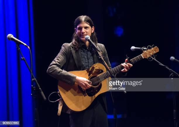 Seth Avett of The Avett Brothers performs during HBO's 'May It Last A Portrait of the Avett Brothers' NYC premiere on January 24 2018 in New York City