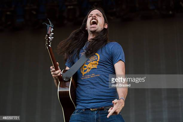 Seth Avett of the Avett Brothers performs during the 2014 Hangout Music Festival on May 18 2014 in Gulf Shores Alabama