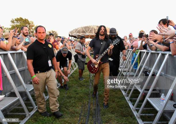 Seth Avett of the Avett Brothers performs during the Pilgrimage Music Cultural Festival 2017 on September 23 2017 in Franklin Tennessee