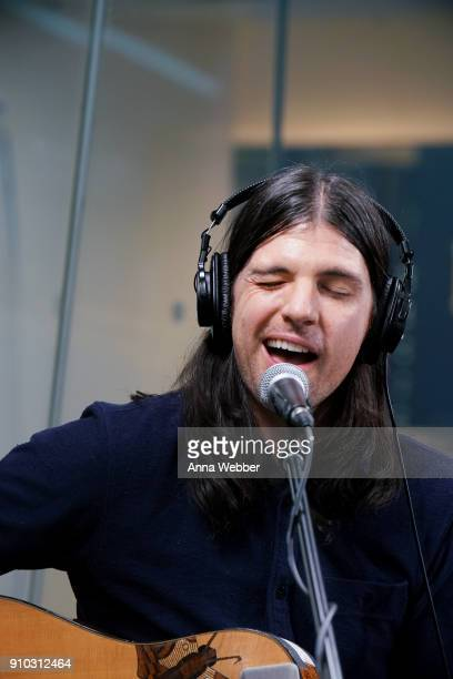 Seth Avett performs during the SiriusXM Town Hall With Judd Apatow Michael Bonfiglio The Avett Brothers Hosted By Kurt Loder at SiriusXM Studios on...