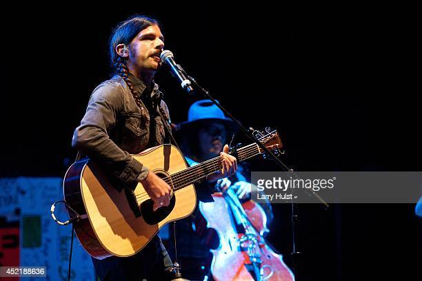 Seth Avett performs with the 'Avett Brothers' at Red Rocks Amplitheater in Morrison Colorado on July 11 2014