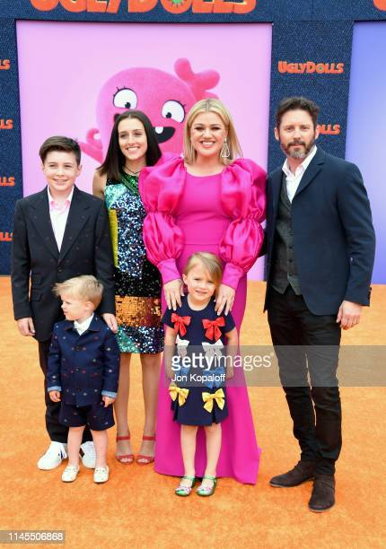Seth Blackstock Remington Alexander Blackstock Savannah Blackstock Kelly Clarkson River Rose Blackstock and Brandon Blackstock attend STX Films World...