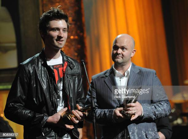 Seth Condrey and Mark Balltzglier during the PreTelecast at the 39th Annual GMA Dove Awards held at the Grand Ole Opry House on April 23 2008 in...