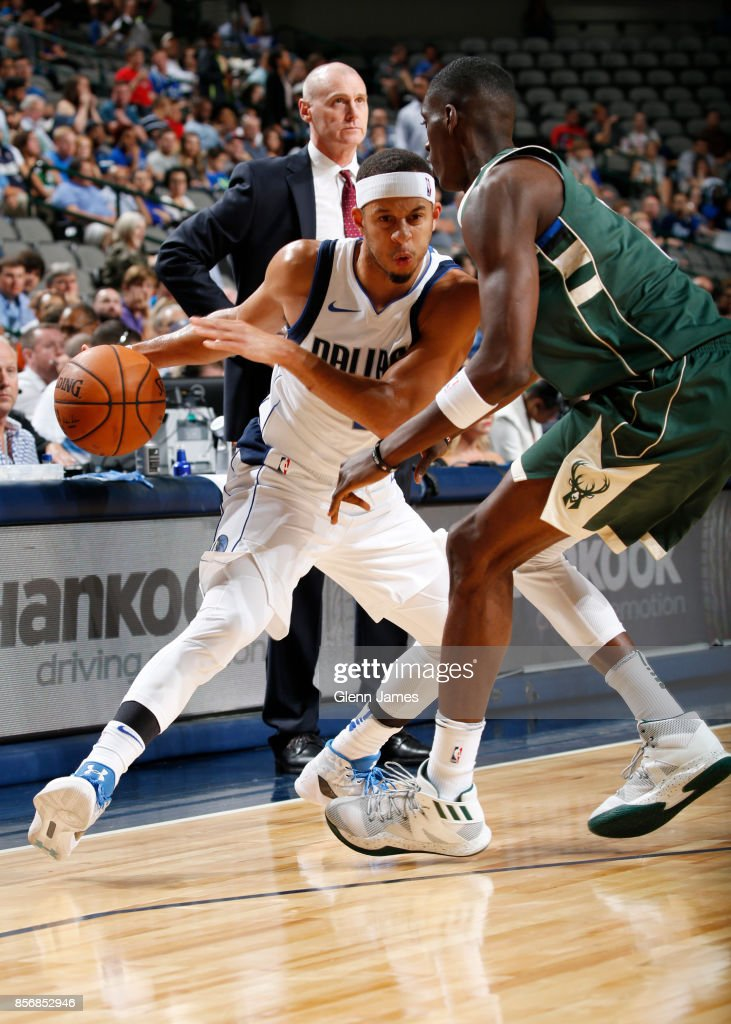 434066ebdb7b Seth Curry of the Dallas Mavericks handles the ball against the ...