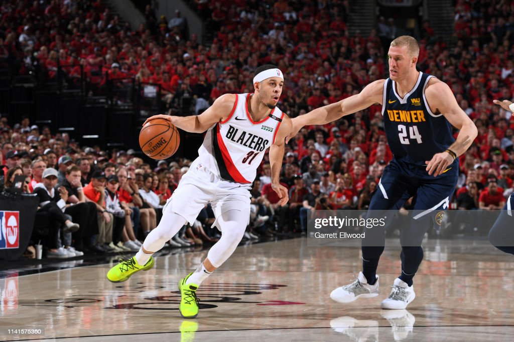 Western Conference Semifinals - Denver Nuggets v Portland Trail Blazers : News Photo
