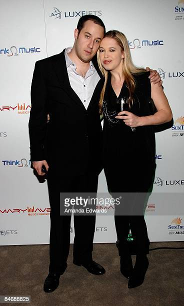 Seth Faber and Hadley Poole attend the Primary Wave Music Publishing preGrammy party at SLS Hotel on February 7 2009 in Los Angeles California