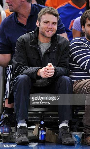 Seth Gabel attends the San Antonio Spurs vs New York Knicks game at Madison Square Garden on December 27 2009 in New York City
