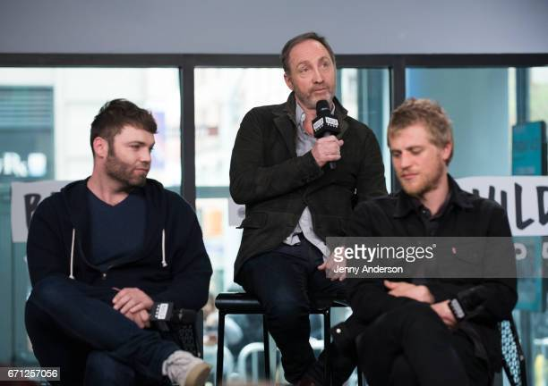 Seth Gabel Michael McElhatton and Johnny Flynn attend AOL Build Series to discuss their new series 'Genius' at Build Studio on April 21 2017 in New...