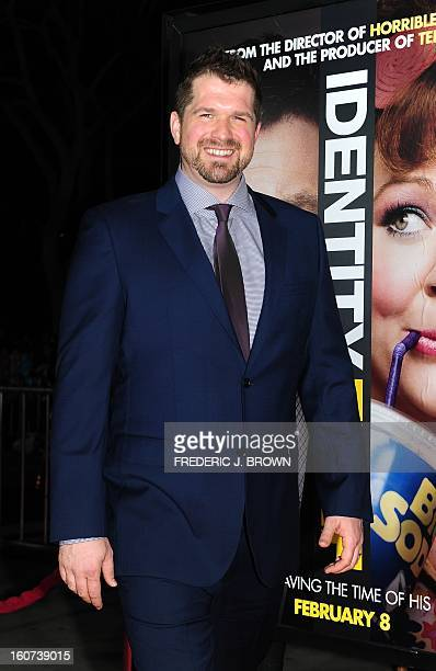 Seth Gordon, director, poses on arrival for the World Premiere of the film 'Identity Thief' in Los Angeles, California, on February 4, 2013. The...