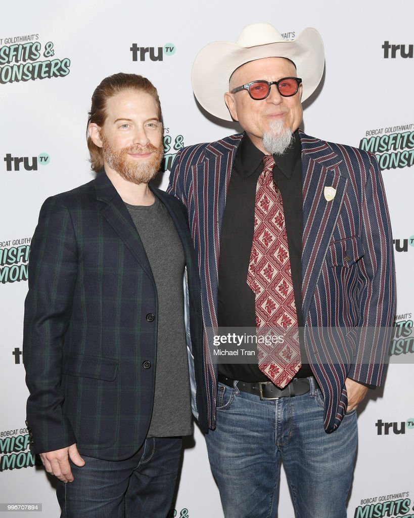Seth Green (L) and Bobcat Goldthwait attend the Los Angeles premiere of truTV's 'Bobcat Goldthwait's Misfits & Monsters' held at Hollywood Roosevelt Hotel on July 11, 2018 in Hollywood, California.