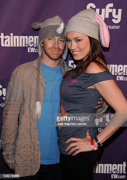 Seth Green and Clare Grant attend the EW and SyFy party during Comic-Con 2010 at Hotel Solamar on July 24, 2010 in San Diego, California.