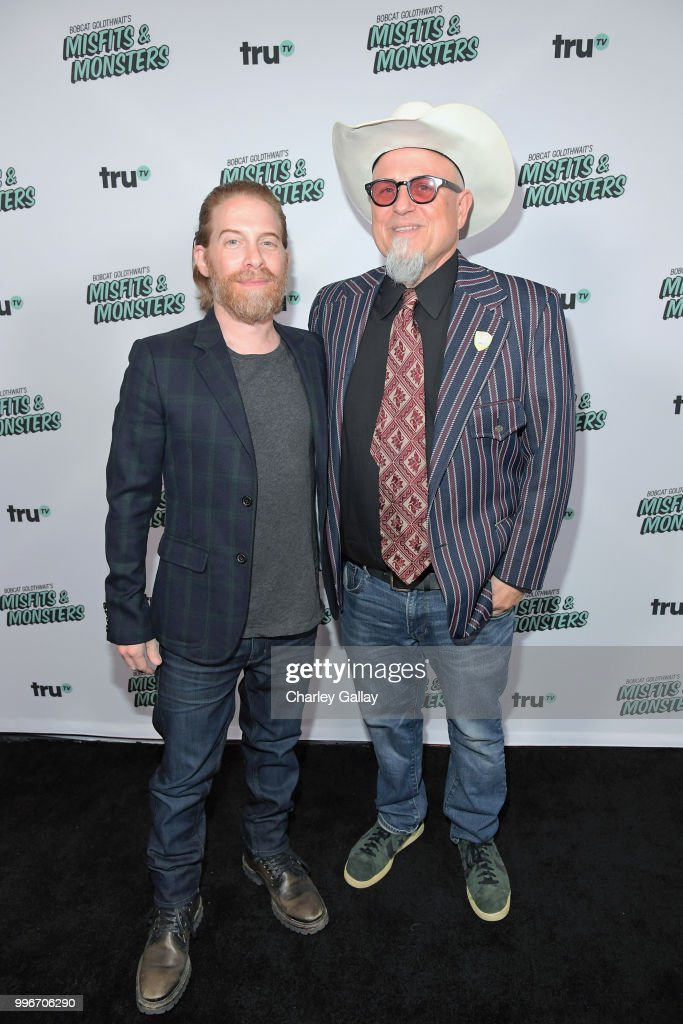 Seth Green (L) and Creator/Executive Producer/Writer Bobcat Goldthwait attend Bobcat Goldthwait's Misfits & Monsters Premiere Event at The Hollywood Roosevelt Hotel on July 11, 2018 in Hollywood, California. 392403.