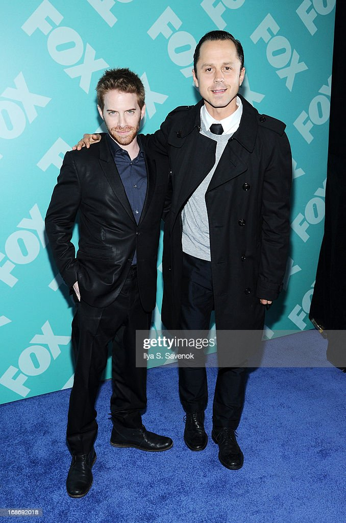 Seth Green and Giovanni Ribisi attend FOX 2103 Programming Presentation Post-Party at Wollman Rink - Central Park on May 13, 2013 in New York City.