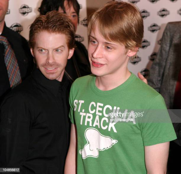 Seth Green and Macaulay Culkin during The Opening Night Gala of Outfest featuring Party Monster at Orpheum Theatre in Hollywood, CA, United States.