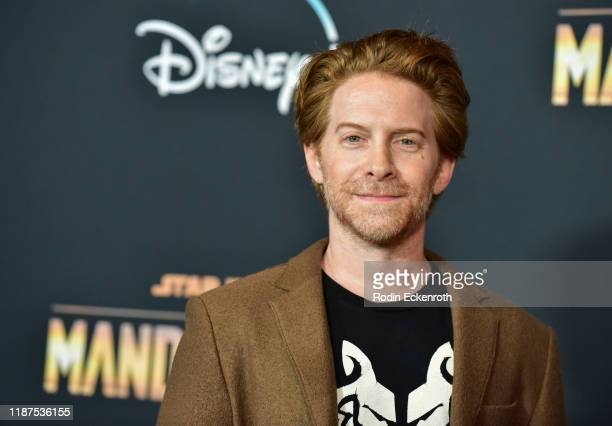 Seth Green attends the Premiere of Disney's The Mandalorian at El Capitan Theatre on November 13 2019 in Los Angeles California