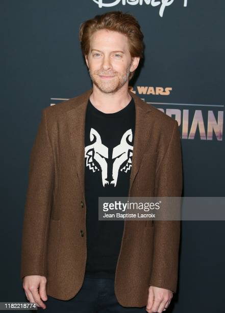 Seth Green attends the premiere of Disney's The Mandalorian at the El Capitan Theatre on November 13 2019 in Los Angeles California