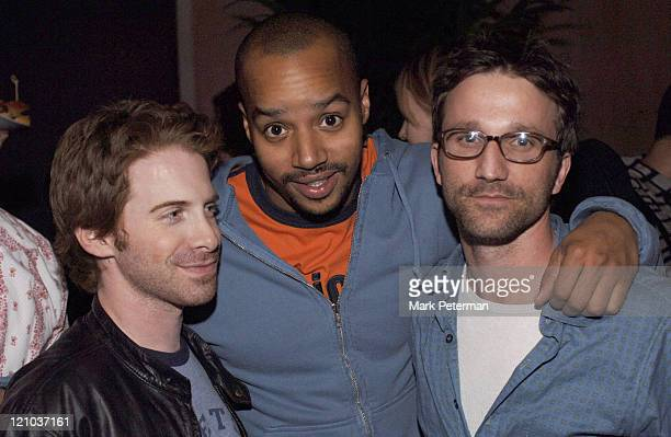 Seth Green Donald Faison and Breckin Meyer during Rolling Stone/Verizon Wireless PreGRAMMY Concert with Kanye West VIP at Spider Club in Hollywood...