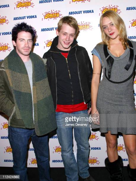 Seth Green Macaulay Culkin and Chloe Sevigny during 2003 Sundance Film Festival 'Party Monster' Party at The Shop in Park City Utah United States