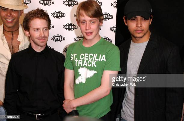 Seth Green, Macaulay Culkin and Wilmer Valderrama during The Opening Night Gala of Outfest featuring Party Monster at Orpheum Theatre in Hollywood,...