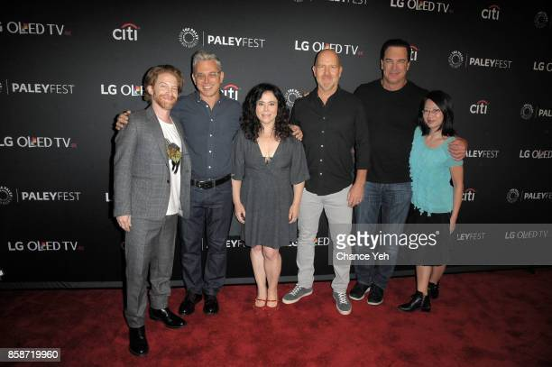 Seth Green Rich Appel Alex Borstein Mike Henry and Parick Warburton attend the 'Family Guy' screening during PaleyFest NY 2017 at The Paley Center...