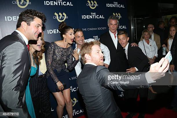 Seth Green takes a selfie with Blake Rayne Erin Cotrell Amanda Crew Waylon Payne Ray Liotta and Noah Urrea at the world premiere of The Identical...