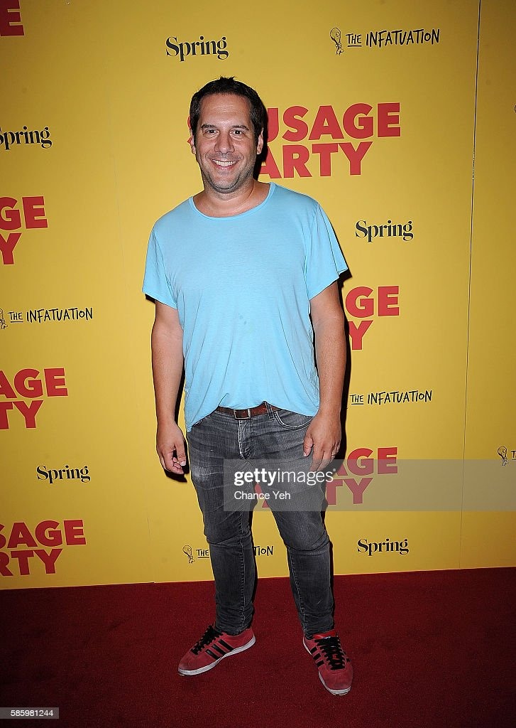 Seth Herzog attends 'Sausage Party' New York premiere at Sunshine Landmark on August 4, 2016 in New York City.