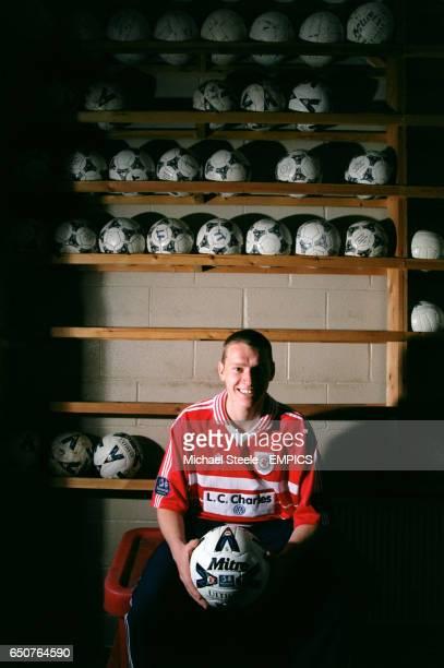 Seth Johnson of Crewe Alexandra in the Gresty Road equipment room