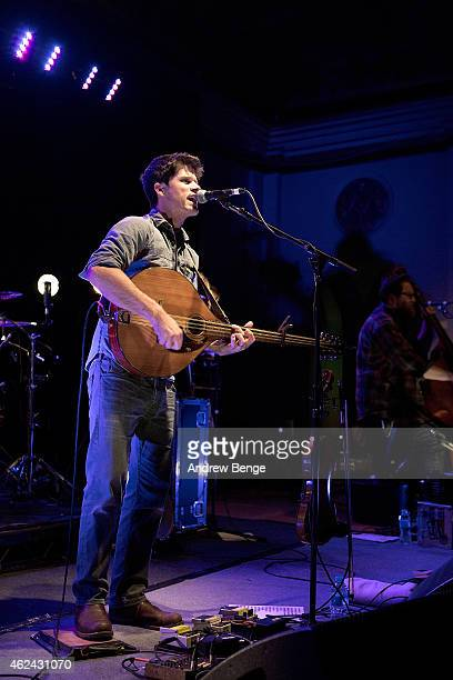 Seth Lakeman performs on stage at City Hall on January 28 2015 in Sheffield United Kingdom