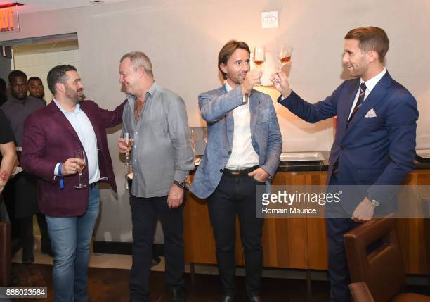 Seth Leminof David Yarrow Jay Rutland and Victor Blanquard attend Haute Living's VIP PopUp Opening Of Alec Monopoly From Art Life And David Yarrow...