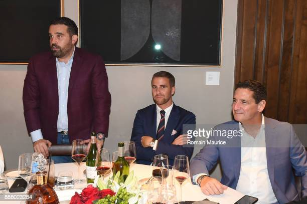 Seth Leminof Victor Blanquard and President and COO Fontainebleau Resort Miami Beach Phil Goldfarb attend Haute Living's VIP PopUp Opening Of Alec...