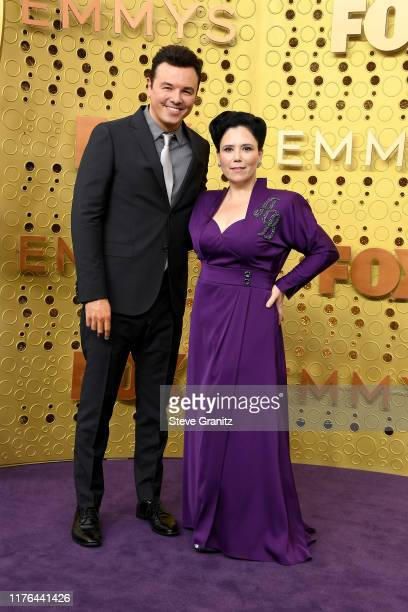 Seth MacFarlane and Alex Borstein attend the 71st Emmy Awards at Microsoft Theater on September 22 2019 in Los Angeles California