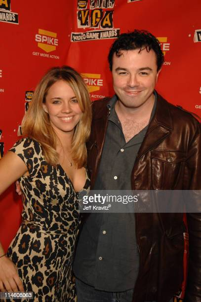 Seth MacFarlane and guest during Spike TV's 2006 Video Game Awards Hosted By Samuel L Jackson Red Carpet at The Galen Center in Los Angeles...