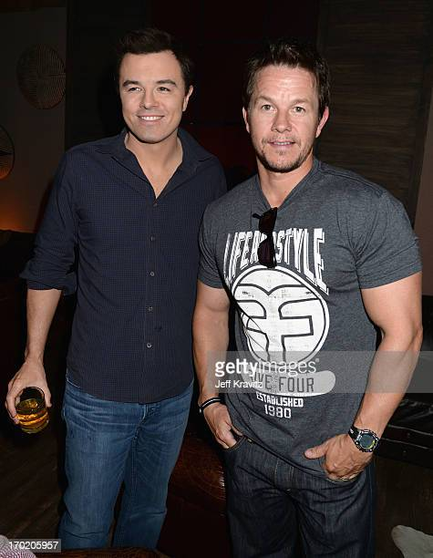 Seth MacFarlane and Mark Wahlberg attend Spike TV's Guys Choice 2013 at Sony Pictures Studios on June 8 2013 in Culver City California