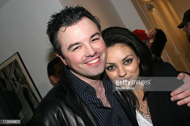 Seth MacFarlane and Mila Kunis during Just for Laughs Presents 'Family Guy Live' at Town Hall in New York City New York United States