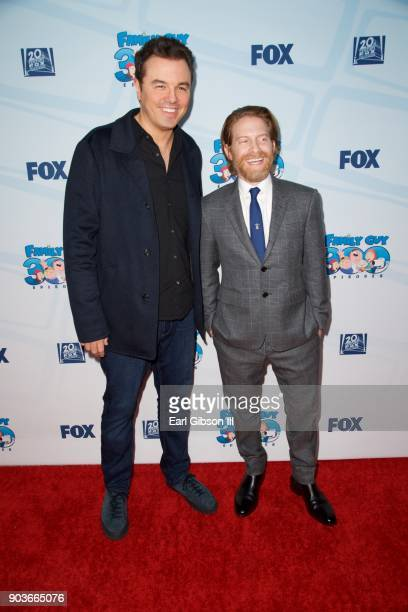 Seth MacFarlane and Seth Green attend Fox Celebrates 300th Episode Of 'Family Guy' at Cicada on January 10 2018 in Los Angeles California