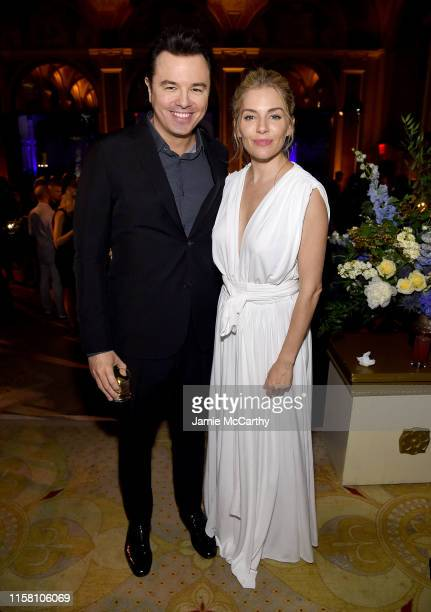 Seth MacFarlane and Sienna Miller attend The Loudest Voice New York Premiere after party on June 24 2019 in New York City