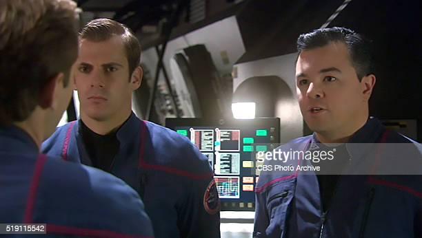 "Seth MacFarlane as Ensign Rivers on the STAR TREK: ENTERPRISE episode, ""Affliction."" Season 4, episode 15. Air date February 18, 2005. Image is a..."