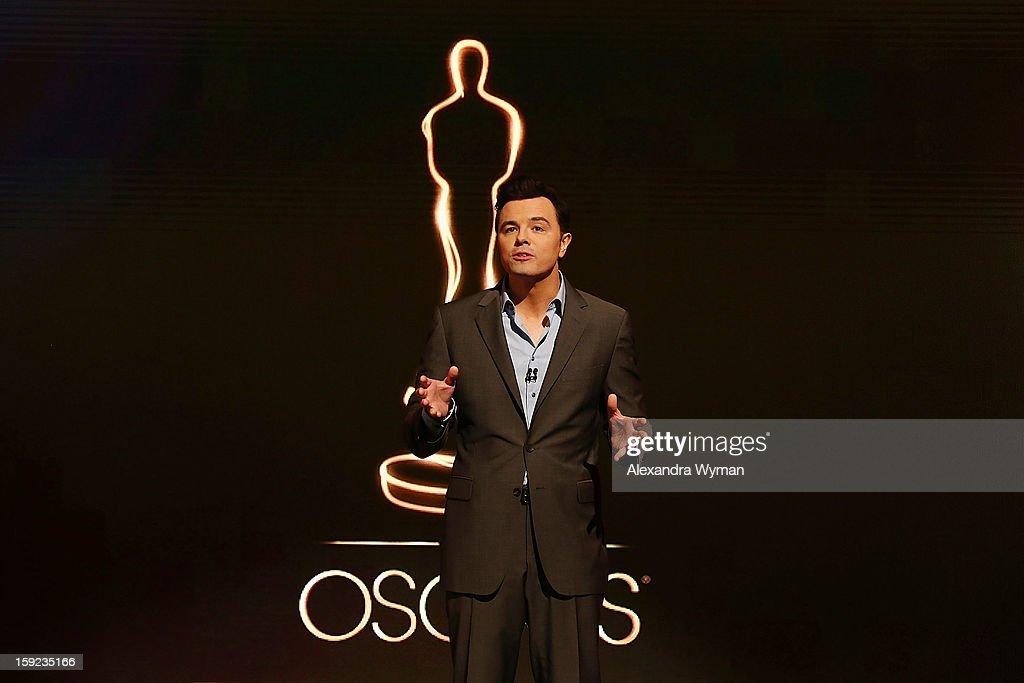 Seth MacFarlane at The 85th Academy Awards - Nominations Announcement held at The AMPAS Samuel Goldwyn Theater on January 10, 2013 in Beverly Hills, California.