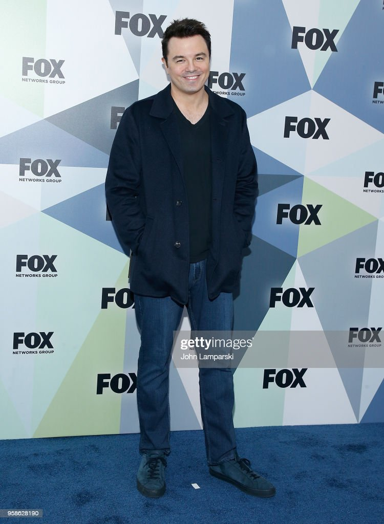 Seth MacFarlane attends 2018 Fox Network Upfront at Wollman Rink, Central Park on May 14, 2018 in New York City.