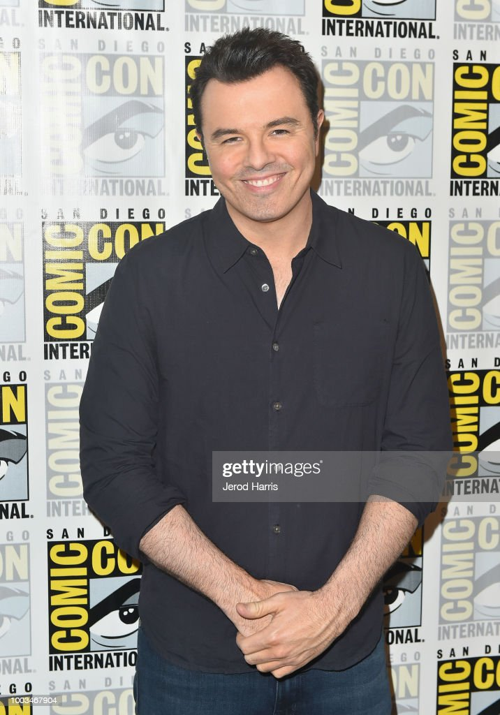 Seth MacFarlane attends the 'The Orville' Press Line during Comic-Con International 2018 at Hilton Bayfront on July 21, 2018 in San Diego, California.