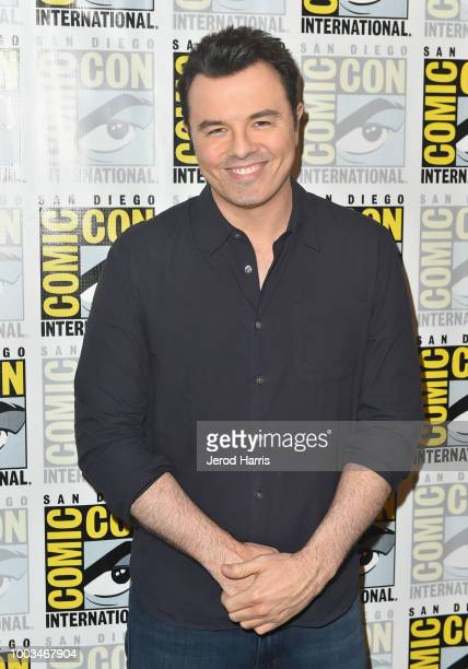 Seth MacFarlane attends the 'The Orville' Press Line during ComicCon International 2018 at Hilton Bayfront on July 21 2018 in San Diego California
