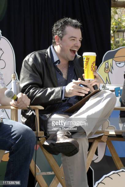 Seth MacFarlane creator 'Family Guy' during 'Freakin' Sweet Stewie' Soundalike Contest at Grove in Los Angles United States